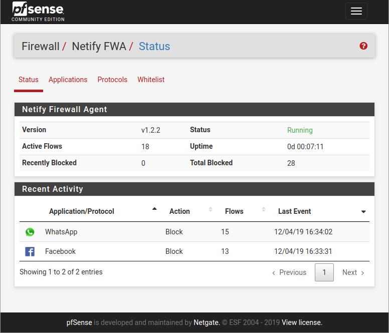 Netify FWA for pfSense